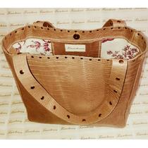 Cartera Shopping Bag Cuero Tachas Diseño