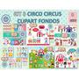 1 Kit Imprimible X 8 Sets Circo Publicidad Folleto Artesania