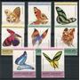 Santa Lucia Mariposas Serie Completa De Estampillas Mint