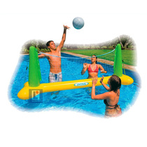 Voley Inflable Con Red Y Pelota Intex Ideal Para La Pileta