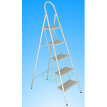 Escalera 5 Escalones Plegable Metal Super Resistente 1,3mts.