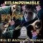 Kit Imprimible Harry Potter Diseñá Tarjetas Cumples 2x1