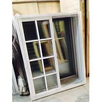 Ventana Aluminio Herrero Blanco Vidrio Repartido 120x150