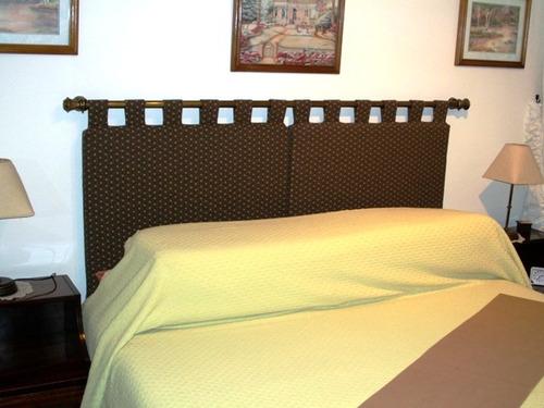 Cabezal respaldo almohadones para cama o sommier 2 plazas - Cabezales de tela ...
