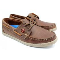 Zapato Hombre Nautico Scarpino 390-18 Regalo Para Papa
