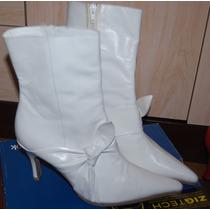 Zapatos En Color Blanco,rojo De Cuero N39