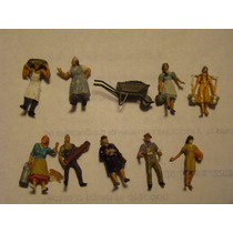 10 Personajes Rurales Preiser H0 1/87