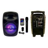 Bafle Karaoke Portatil Bluetooth Usb Sd Radio Fm Luces Led! Bateria Recargable Cuotas