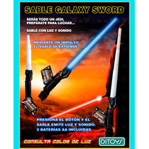 Galaxy Sword Tv Espada Luz Y Sonido Ditoys Z/ Oeste