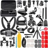 Kit De Accesorios X 50 Gopro Sjcam Action Cam Estuche Imperm