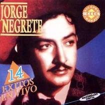 Jorge Negrete 14 Exitos En Vivo Cd Argentina Rare Cd 1993