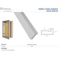 Perfil Aluminio Anodizado X Tira De 3 Metros Puerta Alacena