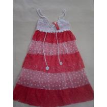Vestidos Con Volados Encaje -tull Bordado Y Tejido A Crochet