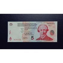 Bono Lecop, 5 Pesos (rojo), 2001, Serie A, Sin Circular -unc