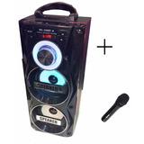 Parlante 106 Usb Sd Mp3 Bluetooth Radio Fm Luces + Microfono