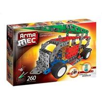Armamec Tipo Mecano 260 Piezas,c/herramientas Verdaderas