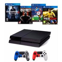 Playstation 4 Ps4 500 Gb 2 Joystick Colores Juego A Eleccion