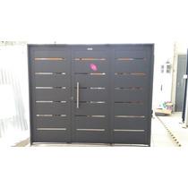 Porton/garage/abrir/ Inyectado/apliques Chapa 18/20 240x200