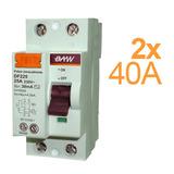 Disyuntor Diferencial Interruptor 2x40 Amp 30ma Baw