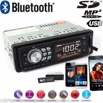 Autoestereo Stereo Bluetooth Usb Mp3 Sd Aux Fm Desmontable