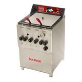 Freidora  Industrial Sol Real 045 Triple Inyección Plata