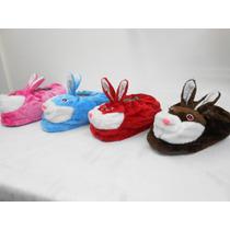 Pantuflas Conejo Abrigadas Y Simpaticas 4 Colores 2 Tallles