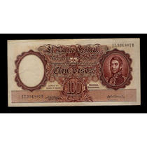 Guardia Imp. Banco Central 100 Pesos 1958 Excelente ++