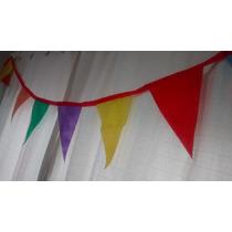 Banderín De Friselina. 3mts. Varios Colores. Lisos Y Lunares