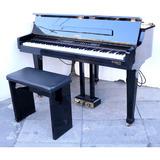 Piano Gem Negro Cola Taburete - Antig La Rueda L R