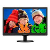 Monitor Philips 193v5lhsb2 Lcd 18.5  Negro 110v/220v