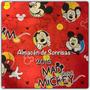 Cortinas Infantiles Mickey Rojas 2 Dos Paños Disney Piñata