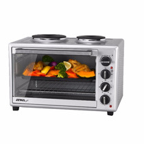 Horno Grill Electrico Atma Hg5010ae 50lts 2 Anafes 5 Niveles