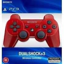 Joystick Ps3 Sony Azul Rojo Blanco Inalambrico Envio Gratis*