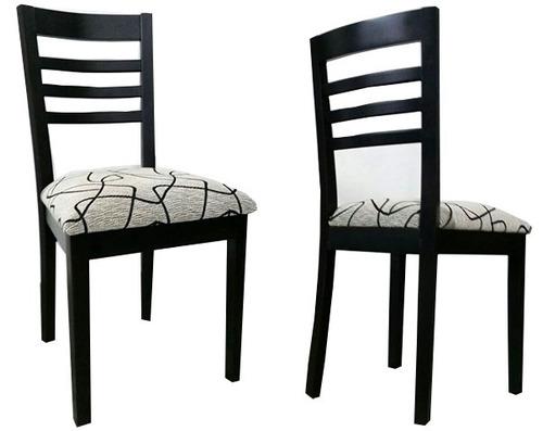 Tapizar sillas de comedor silla comedor wengue madera tapizado tela chenille ecocuero silla - Tapizar sillas precio ...