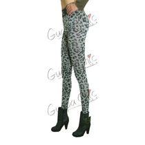 Calzas Simil Jeans Y Animal Print