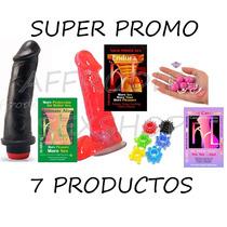 Combo Sexual Vibrador+consolador+anal+anillo+3 Lubricantes