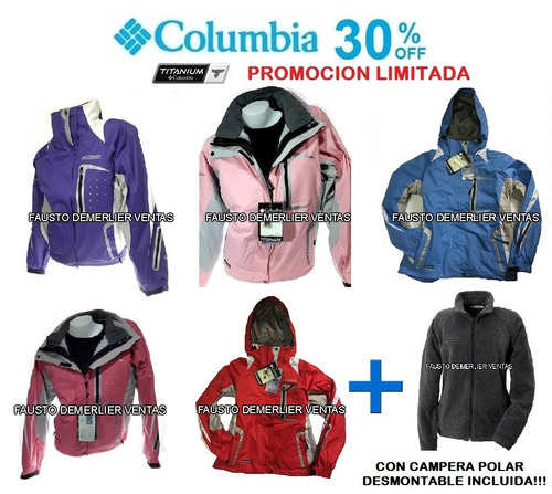 5aae645ee0f75 Campera Nieve.columbia Titanium Dama.consulte Talles Colores
