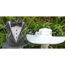 Combo De 2 Sombreros Goma Espuma Cotillón Novios Casamientos