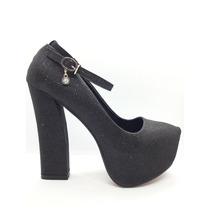 Zapato Mujer Taco Ancho