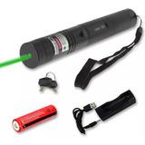 Puntero Laser Verde + Pila Cargador Y Efecto Prende Fosforo