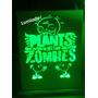 Luz De Noche Plantas Vs Zombies Velador Led Un Color De Luz