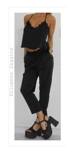 comprar popular elige lo último rendimiento confiable Pantalón Babucha/seda-negro-vestir/filomena Leggins - $ 1100 ...