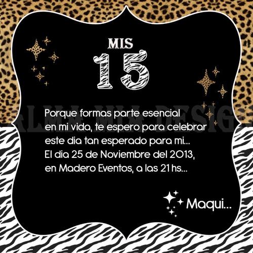 Tarjetas Invitacion 15 Au00f1os Modernas! (Otros) a ARS 5.5 en ...