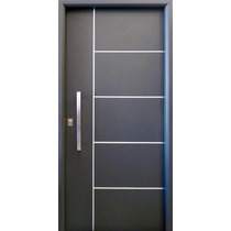 Puerta Nexo Deluxe Style 5 Tableros Gris Cilindro Europerfil