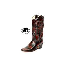 Botas Texanas - Jr Boots & Shoes - Art. 6075 Cl Roja
