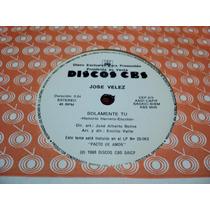 Disco Simple De Jose Velez - Solamente Tu