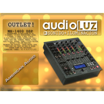 Consola Mixer Profesional American Audio Mx-1400 Dsp Oulet