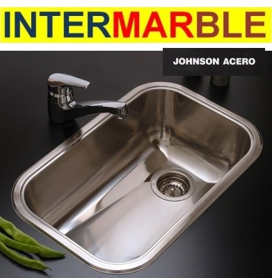 INTERMARBLE JOHNSON ACERO INOXIDABLE BACHAS, PILETAS, MESADAS, ACCEORIOS BAÑOS Y COCINA