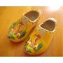 Zapatos Holandeses De Madera Para Decoracion Pintados A Mano