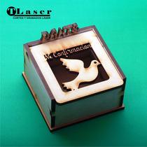 Caja Fibro Facil Personalizada 7x7x5cm Bisagra Confirmacion